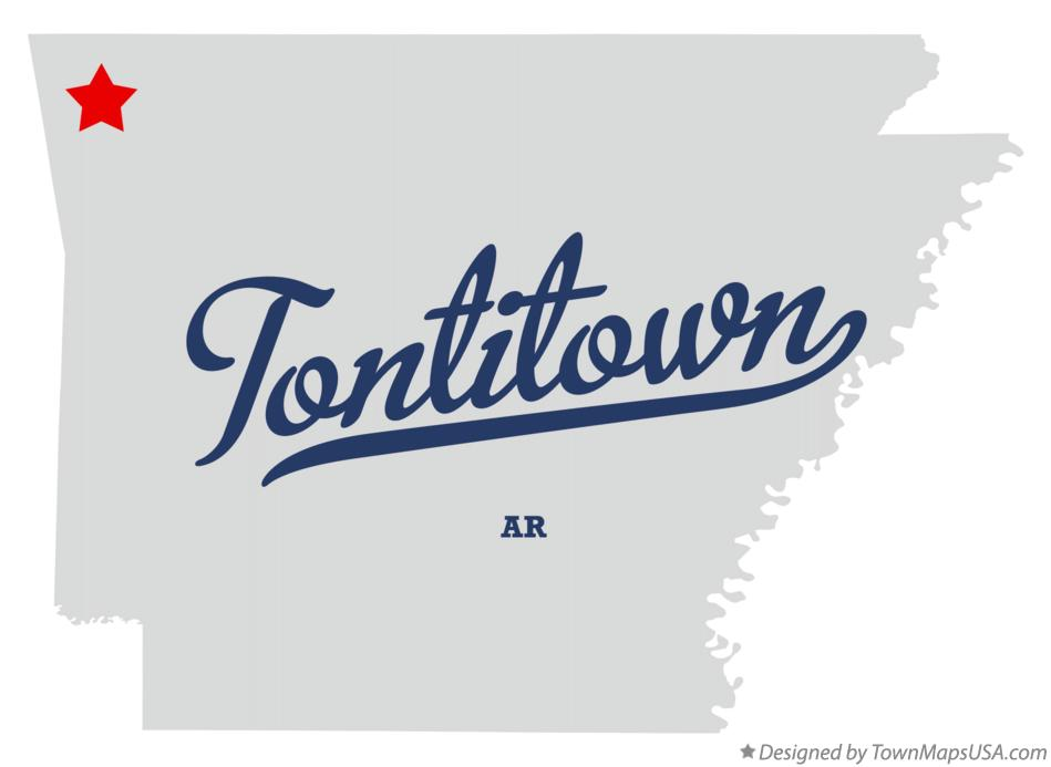 Tontitown Arkansas Map.Map Of Tontitown Ar Arkansas