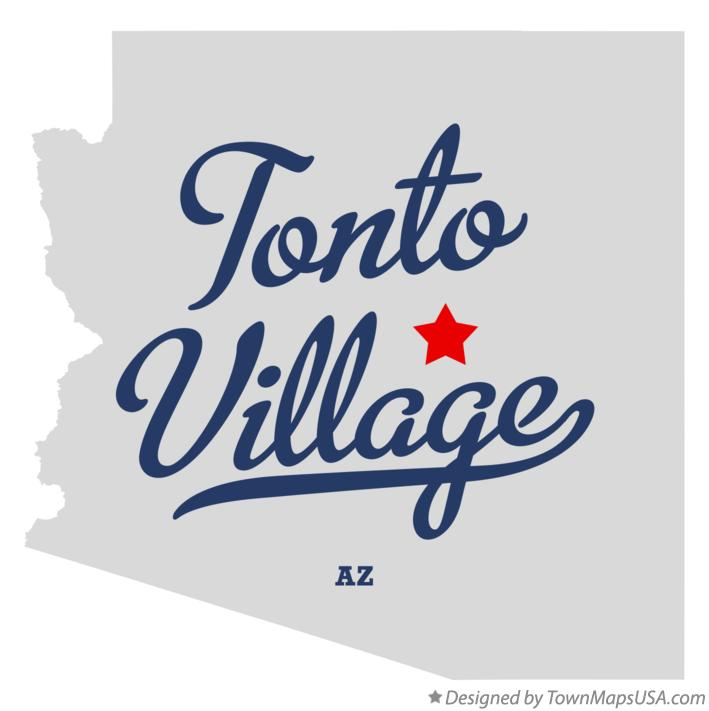 Map of Tonto Village Arizona AZ