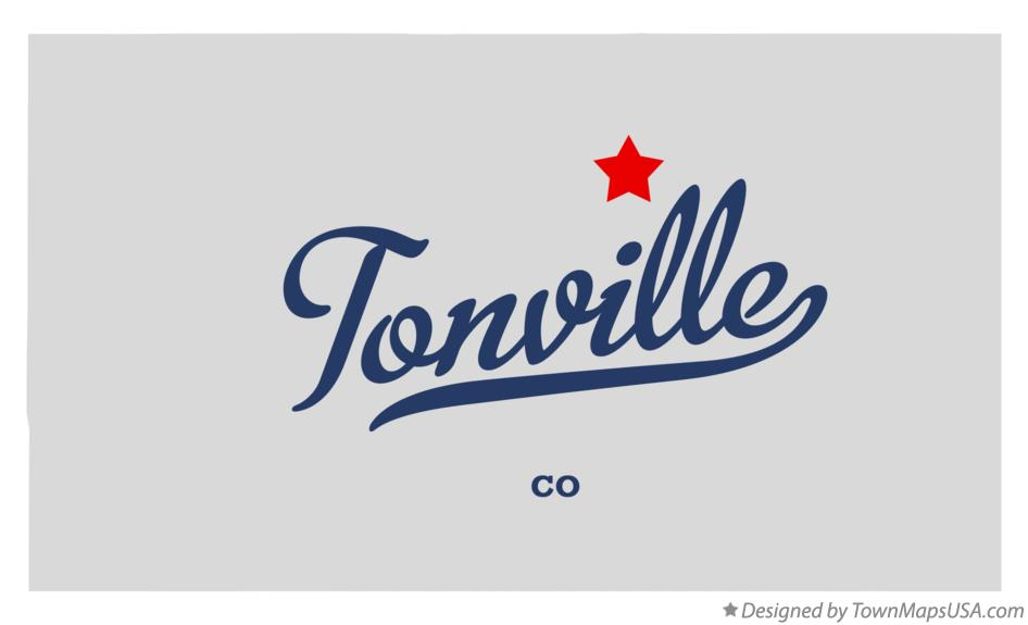 Map of Tonville Colorado CO