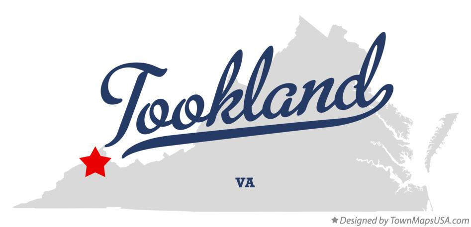 Map of Tookland Virginia VA