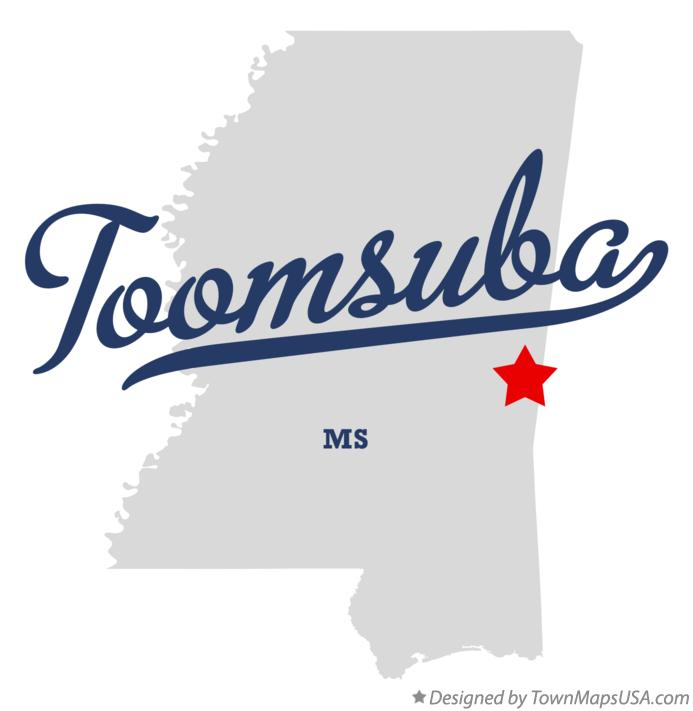 Map of Toomsuba Mississippi MS