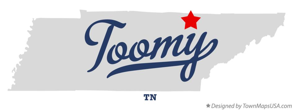 Map of Toomy Tennessee TN
