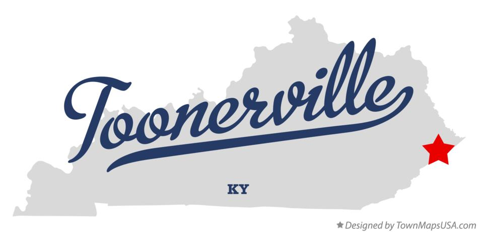 Map of Toonerville Kentucky KY