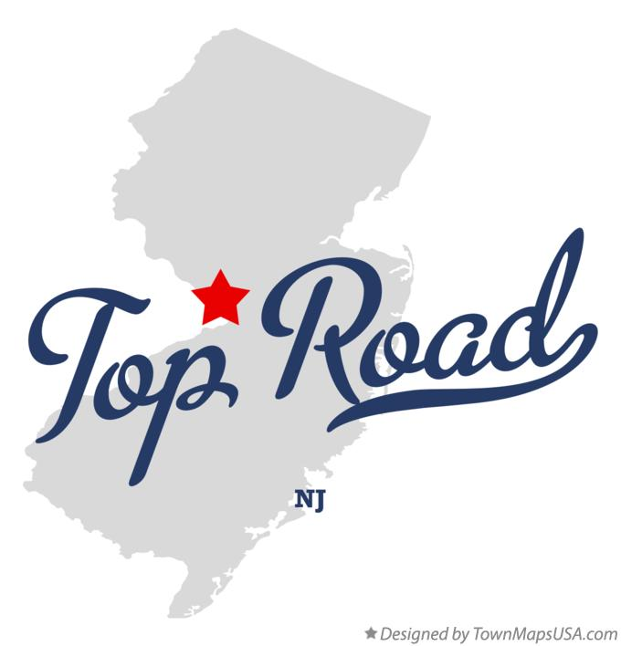Map of Top Road New Jersey NJ