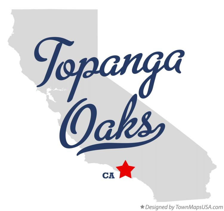 Map of Topanga Oaks California CA