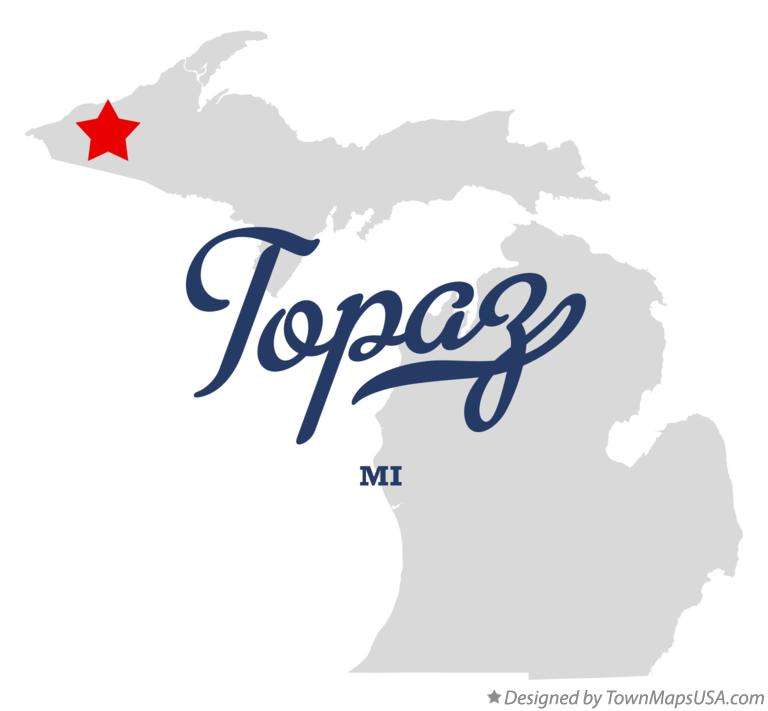 Map of Topaz Michigan MI