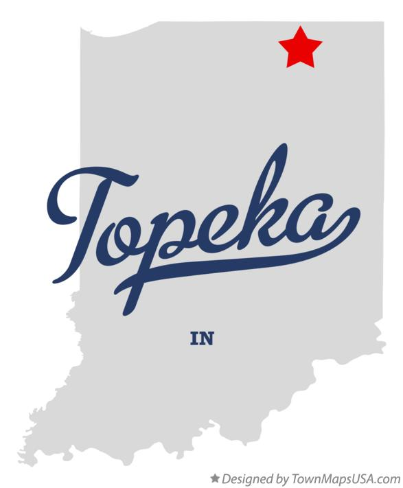 Map of Topeka Indiana IN
