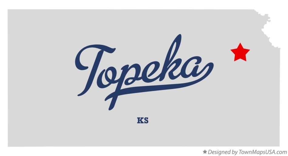 Map of Topeka Kansas KS