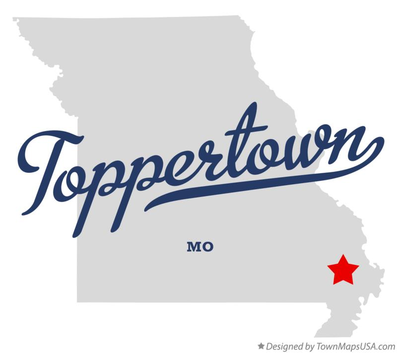 Map of Toppertown Missouri MO