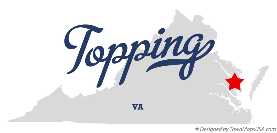 Map of Topping Virginia VA