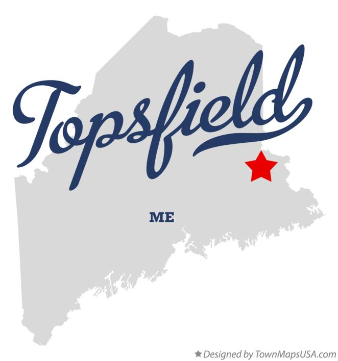 Map of Topsfield Maine ME