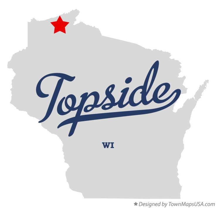 Map of Topside Wisconsin WI