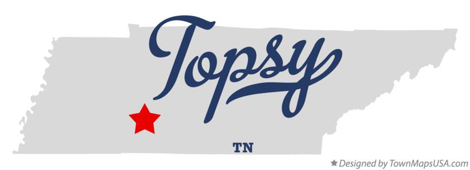 Map of Topsy Tennessee TN