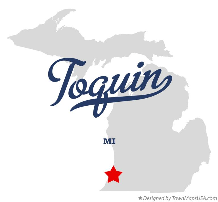 Map of Toquin Michigan MI