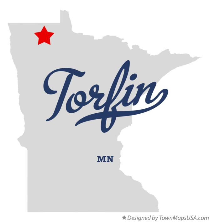 Map of Torfin Minnesota MN