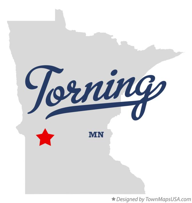 Map of Torning Minnesota MN