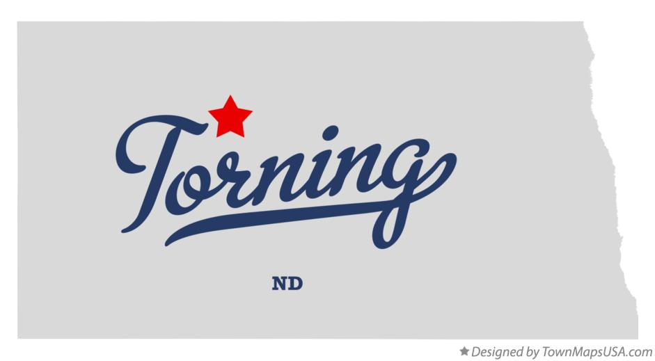 Map of Torning North Dakota ND