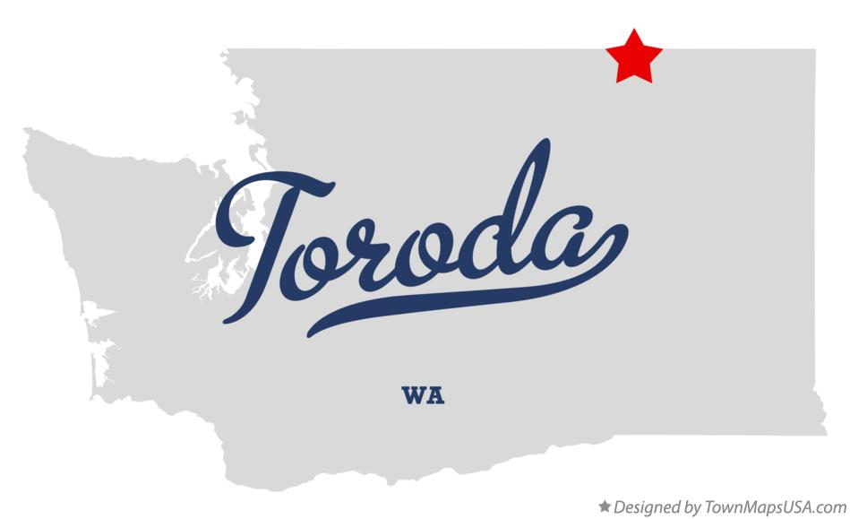 Map of Toroda Washington WA