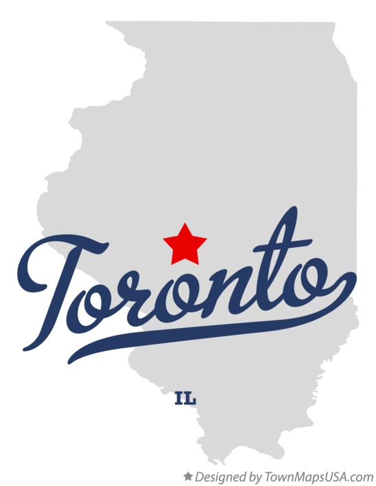 Map of Toronto Illinois IL