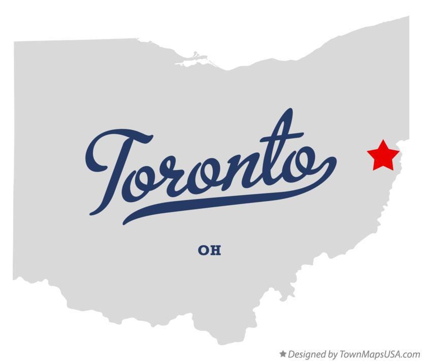 Map of Toronto Ohio OH