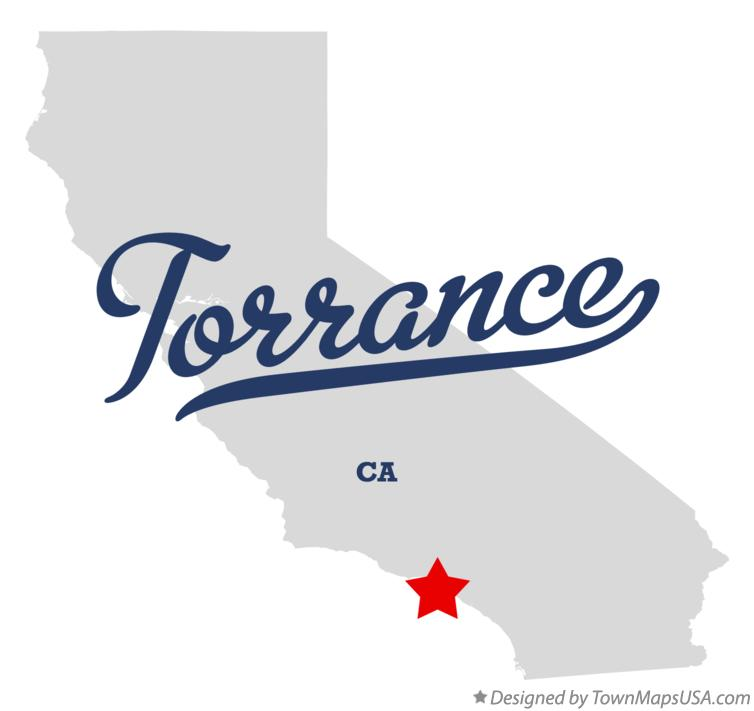Map of Torrance California CA