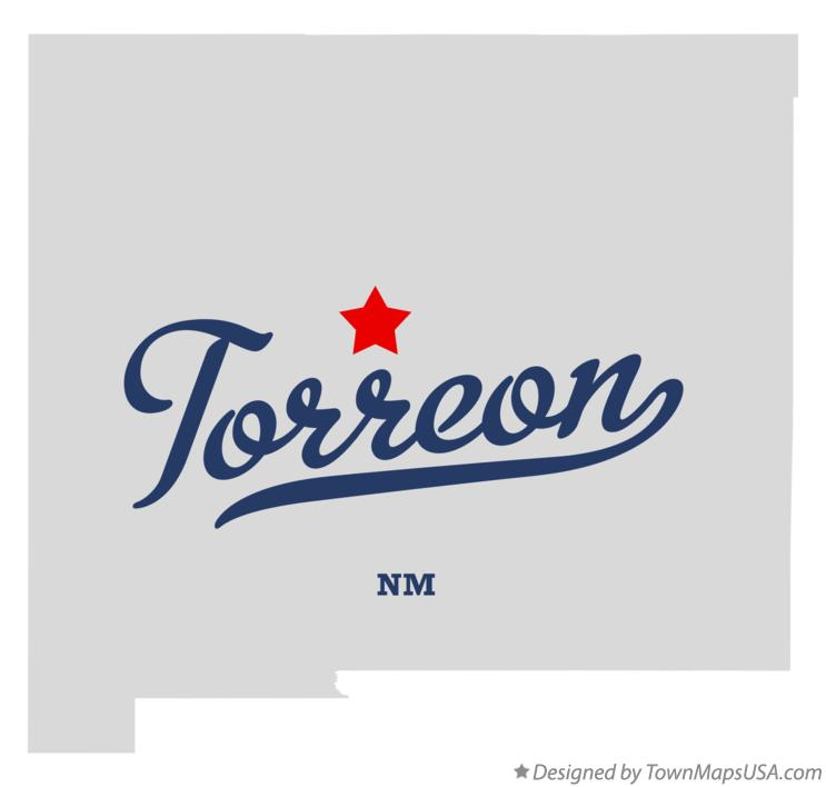 Map of Torreon New Mexico NM