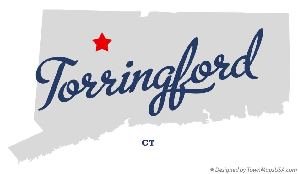 Map of Torringford Connecticut CT