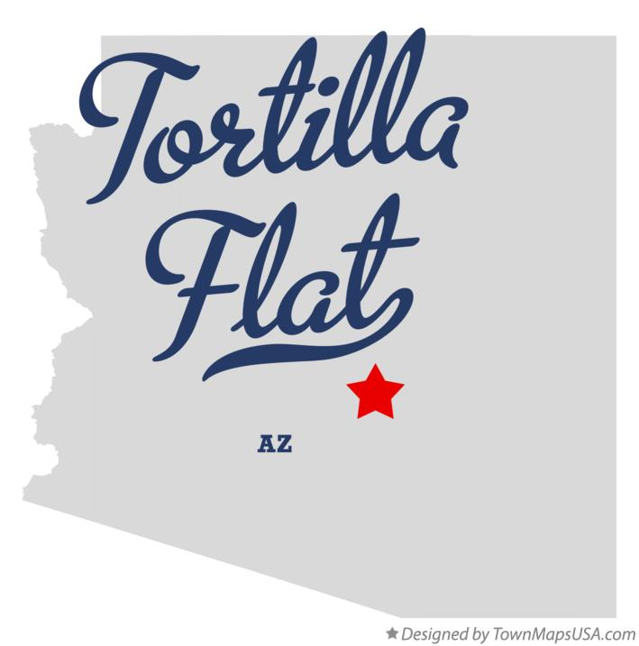 Map of Tortilla Flat Arizona AZ