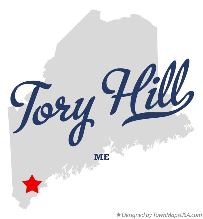 Map of Tory Hill Maine ME