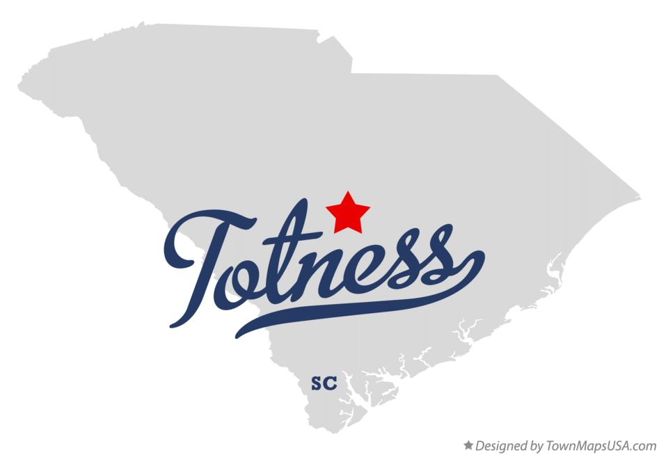 Map of Totness South Carolina SC