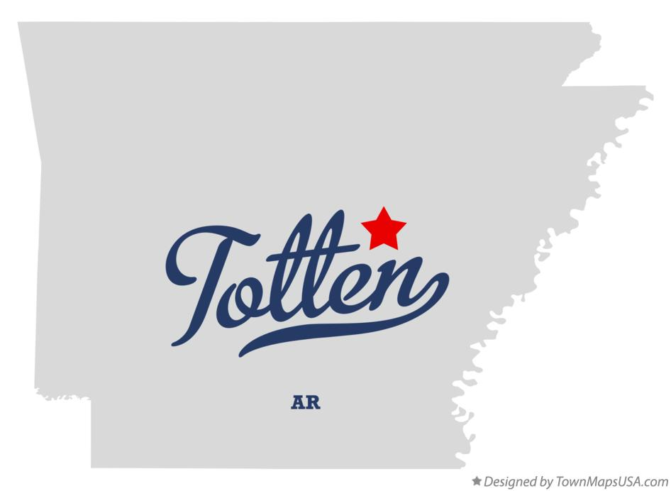 Map of Totten Arkansas AR
