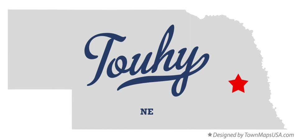 Map of Touhy Nebraska NE