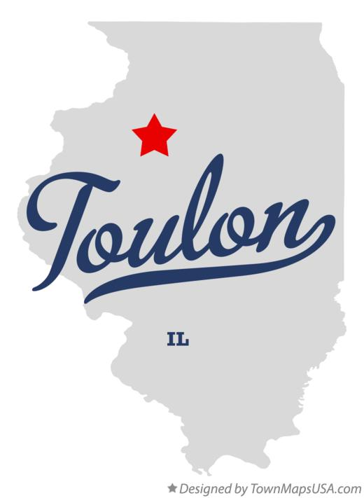 Map of Toulon Illinois IL