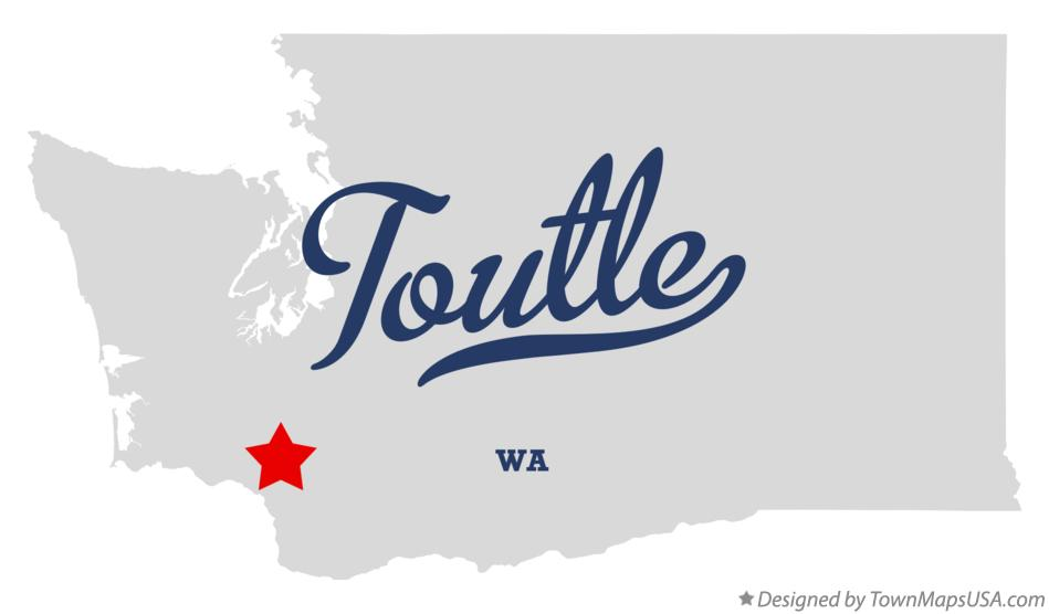Map of Toutle Washington WA