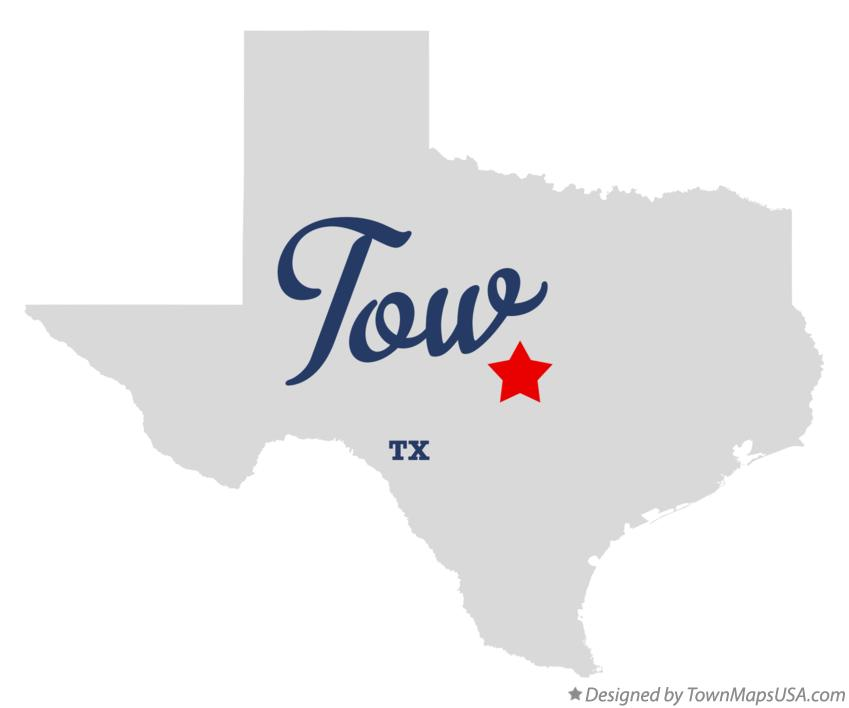 Map of Tow Texas TX