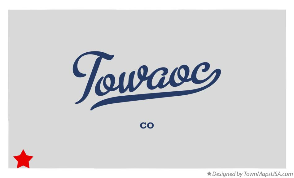 Map of Towaoc Colorado CO