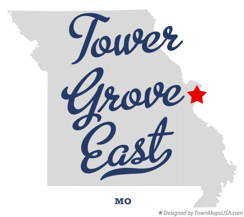 Map of Tower Grove East Missouri MO