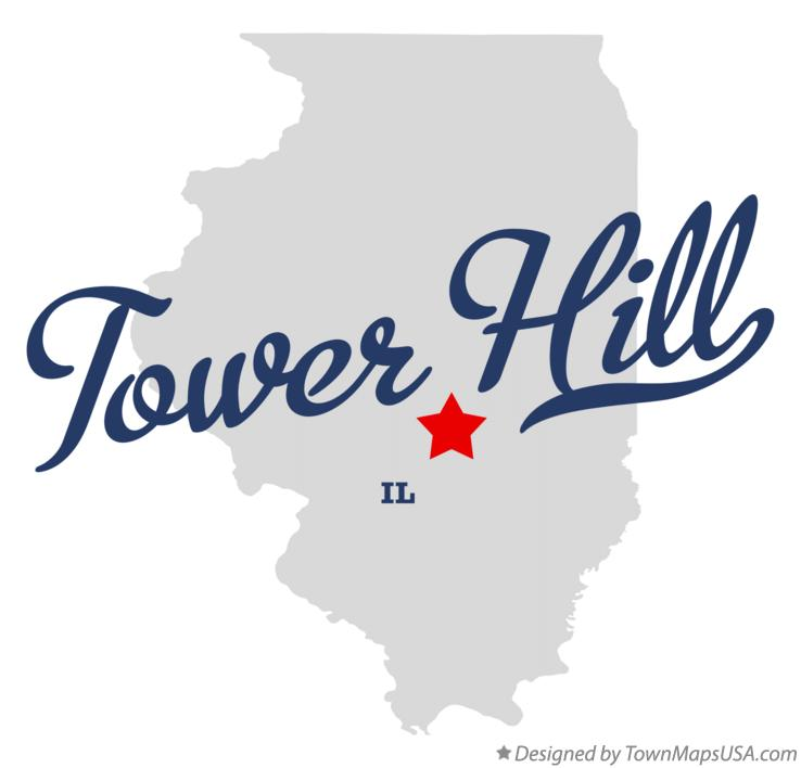 Map of Tower Hill Illinois IL