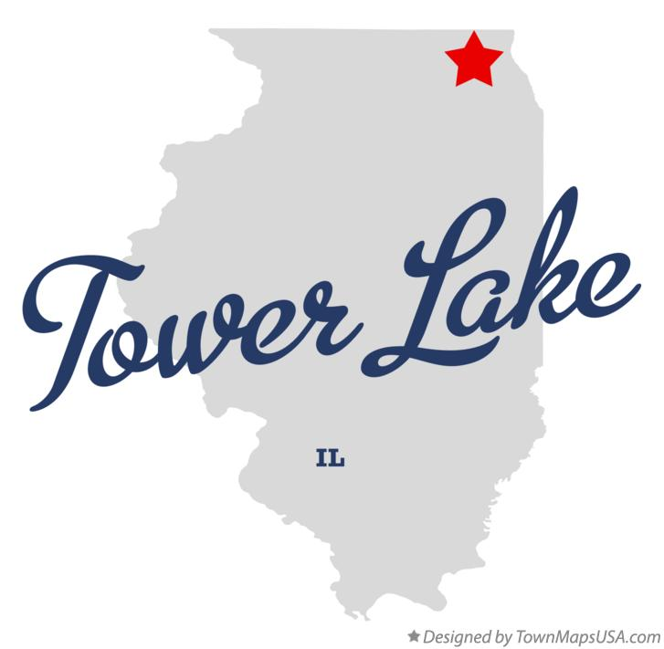 Map of Tower Lake Illinois IL