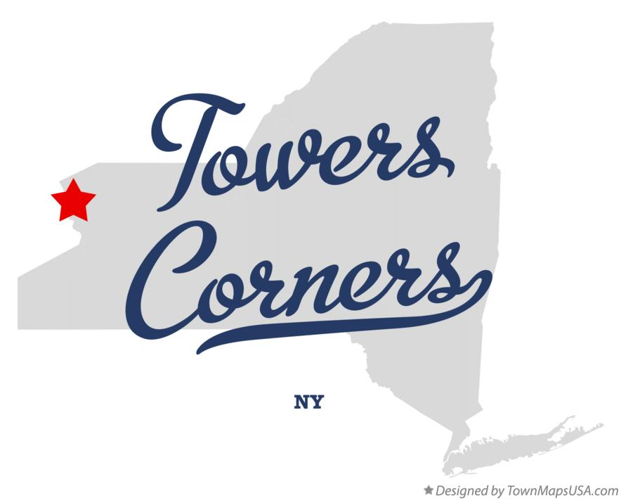 Map of Towers Corners New York NY