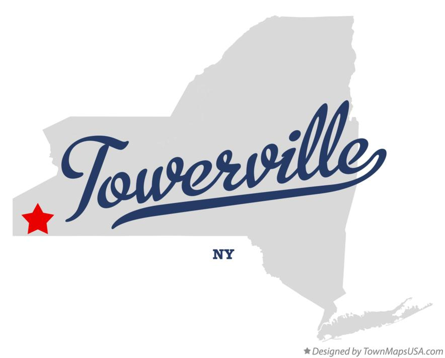 Map of Towerville New York NY