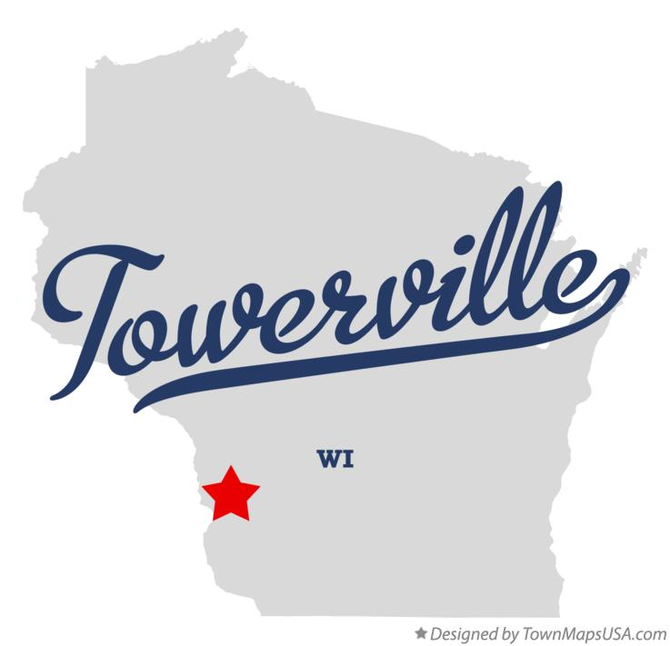 Map of Towerville Wisconsin WI