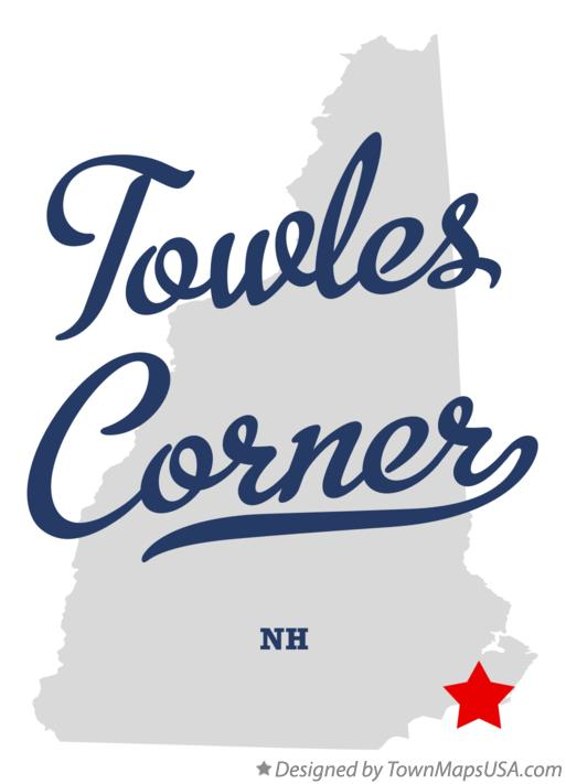 Map of Towles Corner New Hampshire NH