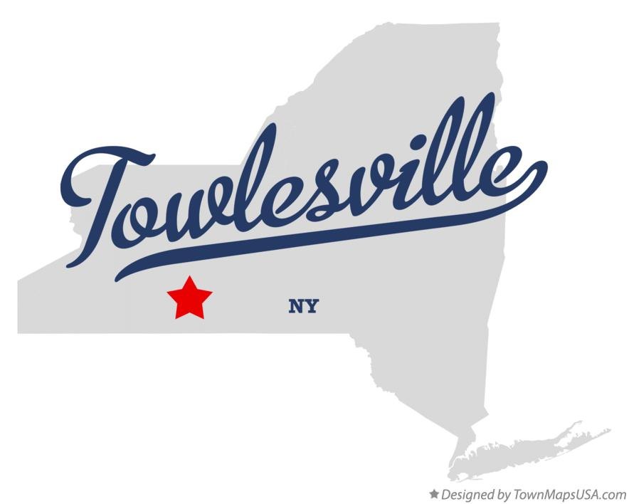Map of Towlesville New York NY