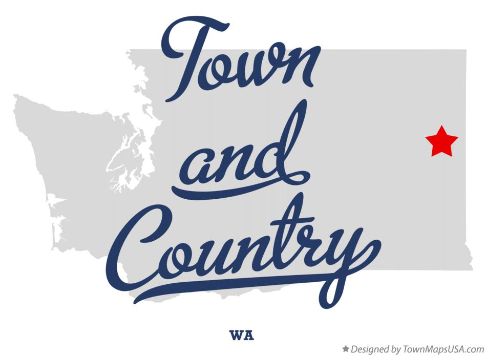 Map of Town and Country Washington WA