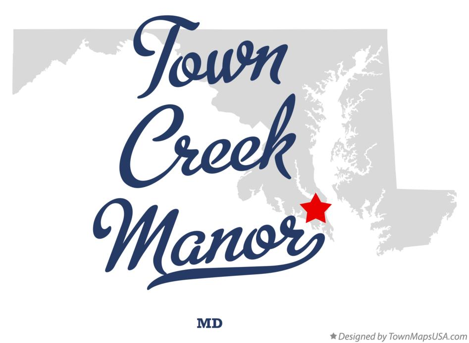 Map of Town Creek Manor Maryland MD