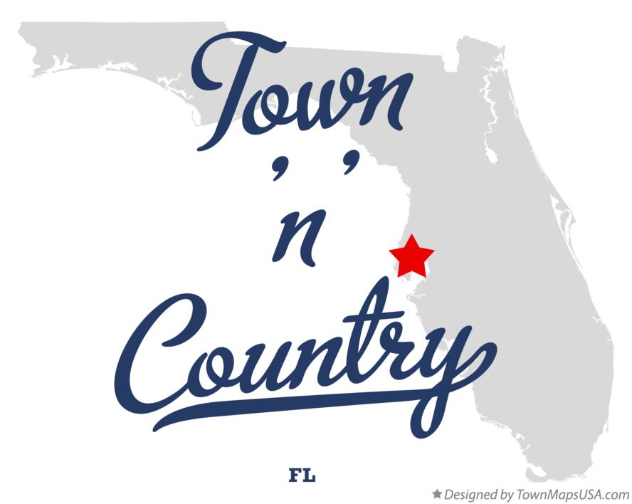 Map of Town n Country FL Florida