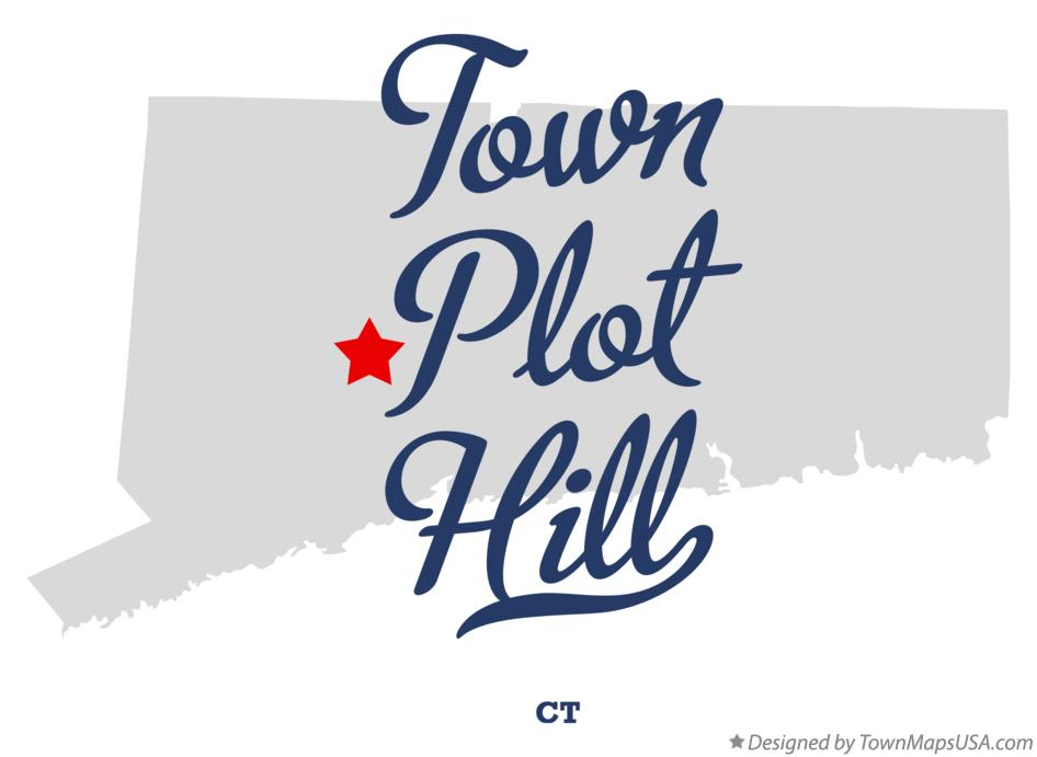 Map of Town Plot Hill Connecticut CT