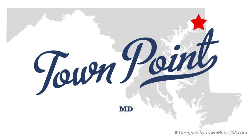 Map of Town Point Maryland MD