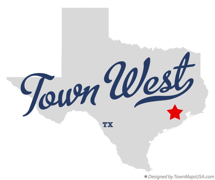 Map of Town West Texas TX